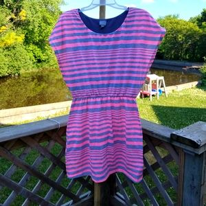 Vanity pink and grey striped dress size large
